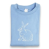 Rabbit Blue Long Sleeve Tee