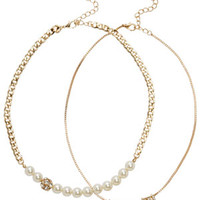 Like A Lady 2pk Statement Necklace - Gold
