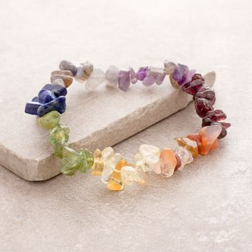 Chakra Gemstone Chip Power Bracelet