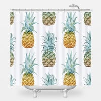 Pineapple Purist Shower Curtain