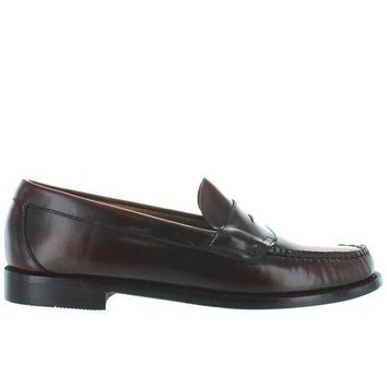 Bass Weejuns Logan   Burgundy Leather Classic Penny Loafer