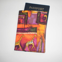 Fabric Passport Cover Handmade Safari Jungle Animals Mini Wallet Cards Holder Tissues Holder Thank You Gift