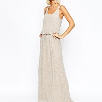 Selected Calissa Beaded Strap Maxi Dress