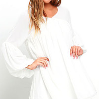 Gentle Breeze Ivory Babydoll Dress