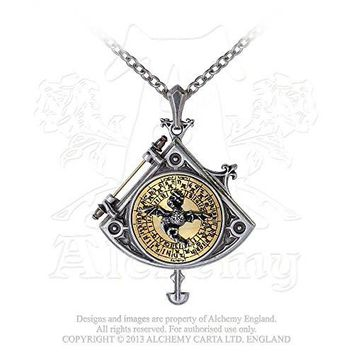 16th Century Enlightenment Astral Dragon Quadrant Pendulum Locket Necklace by Alchemy Gothic