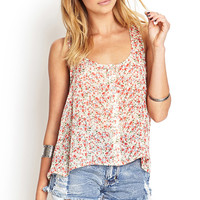 Buttoned Floral Top
