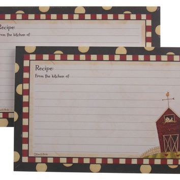 Brownlow Gifts Recipe Cards Fresh is Good 4x6 72 Designer Cards Dan DiPaolo Barn