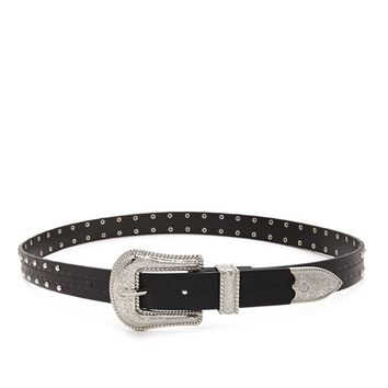 Western Faux Leather Belt