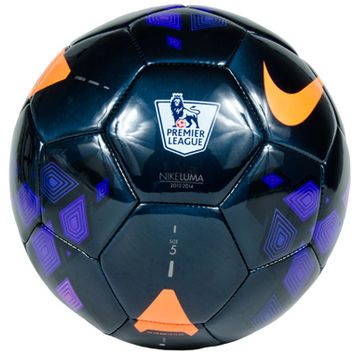 Nike Luma EPL Soccer Ball - Black with Purple and Total Orange - SoccerPro.com