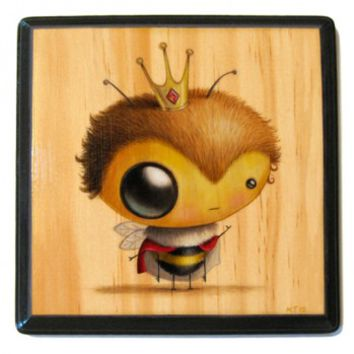 Fine Art Wooden Plaque - Queen Bee