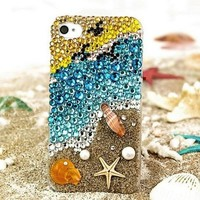 New Chic Luxury Summer Beach Bling Rhinestones Mobile Cell Phone Case Cover for iPhone 4s 5s 6 Plus Samsung - Casemoda | Pinkoi