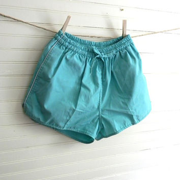 Vintage Shorts, Tennis Shorts, 1980s Teal Shorts SALE