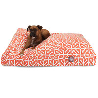 Orange Aruba Extra Large Rectangle Dog Bed
