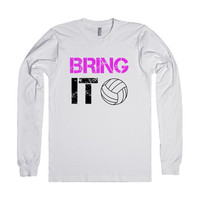Bring it Volleyball long sleeve tee t shirt