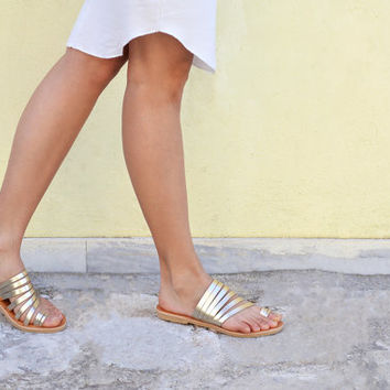 AVRA, Sandals, Leather sandals, Greek women sandals