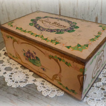 Louis Sherry 1930's Chocolate Candy Tin