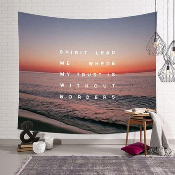Nature Scenery Sea Beach Printed Modern Wall Hanging Tapestry Fashion Bohemian Bedspread Throw Blanket Beach Towel Picnic Mat