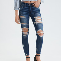 AE Ne(X)t Level Jegging Crop, Cool Torn