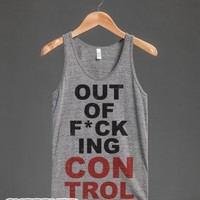 Out Of F*cking Control-Unisex Athletic Grey Tank
