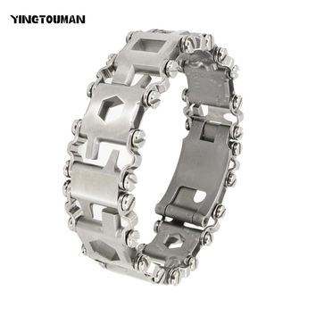 YINGTOUMAN Women Lady Wearable Tread Multi-function Bracelet Strap Multi-function Screwdriver Outdoor Emergency Kit Multi Tool