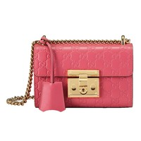 Gucci Women's Signature GG Candy Pink Crossbody 409487