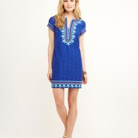 Starfish Embroidered Tunic Dress