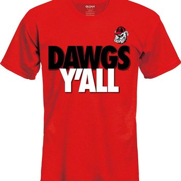Georgia Bulldogs Y'ALL Unisex Short Sleeve Tee