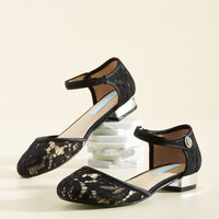 Footwork Your Magic Flat in Black | Mod Retro Vintage Flats | ModCloth.com