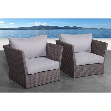 Azriel Patio Chair with Cushions