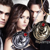 New Fashion Vintage Necklaces & Pendants Vampire Diaries Elena Gilbert Necklace Women Verbena Necklace XY-N195