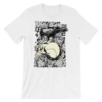 Crow and Skull Short-Sleeve Unisex T-Shirt