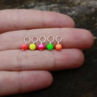 A D D . O N: Add a Neon Swarovski Pearl to Your Jewelry . Neon Pink, Neon Yellow, Neon Orange, Neon Red, or Neon Green . Charm Jewelry