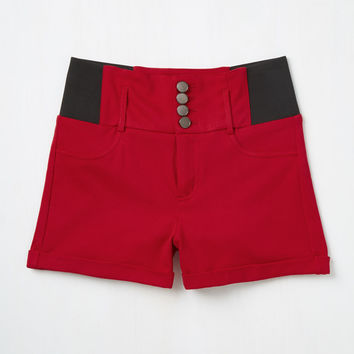 Memphis Marvel Shorts in Red | Mod Retro Vintage Shorts | ModCloth.com
