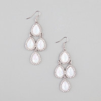 Full Tilt Hologram Teardrop Dangle Earrings Silver One Size For Women 22839114001