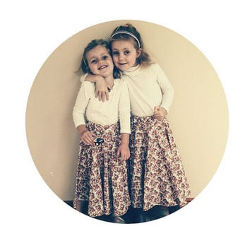 Easy Peasy Full Circle Skirt Pattern, Children Sewing Pattern for little girls.