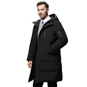 Waterproof thick winter men down jacket brand-clothing hooded warm duck down coat male puffer jacket Male Windproof Parka 866