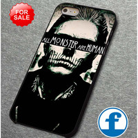 all monsters are human       for iphone, ipod, samsung galaxy, HTC and Nexus PHONE CASE