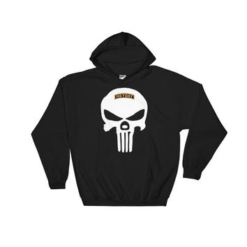 Black Skull Hooded Sweatshirt