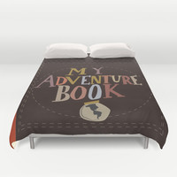 my adventure book.. up, carl and ellie Duvet Cover by Studiomarshallarts
