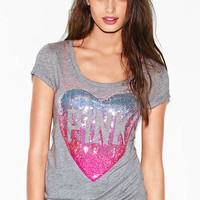 Bling Scoopneck Tee - PINK - Victoria's Secret