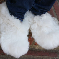 Fluffy Furry Fuzzy Alpaca Slippers