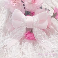 ..Lace Detailed Hair Ribbon.. from Rose Pink Delights