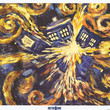 Doctor Who TARDIS Explosion Van Gogh Art Poster 24x36