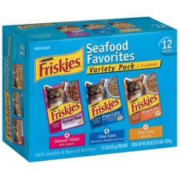 LMFYN5 Friskies Fine Cuts Tuna in Sauce or Ocean Whitefish in Sauce 2-12pk