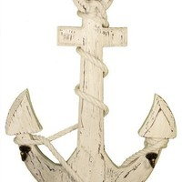 Deco 79 Wood Anchor Hooks, 24 by 18""