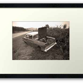 'Vauxhall Victor - 1957' Framed Print by Bruce Stanfield