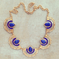 BLUE ART DECO NECKLACE