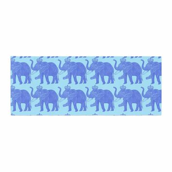 "BarmalisiRTB ""Exist Elephant"" Brown Orange Fantasy People Digital Illustration Bed Runner"