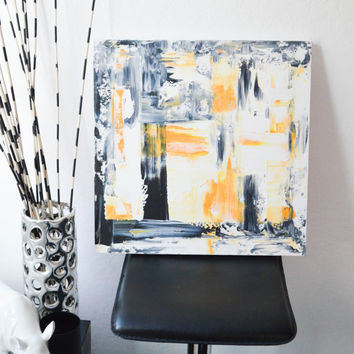 Yellow No. 89- an abstract original acrylic painting by FQ Studios