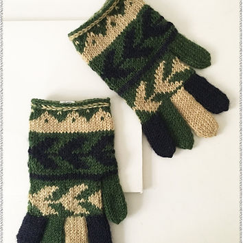 Wooly Warmth Gloves | Green